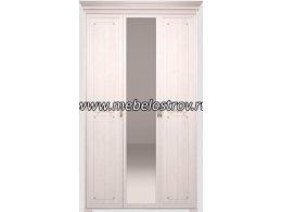 Афродита Шкаф для платья и белья 3-х дверный с зеркалом (без карниза)