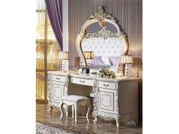 Версаль Туалетный стол с зеркалом и пуфом