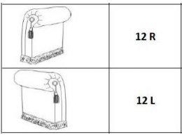Подлокотник правый (ткань 1, категория 10)