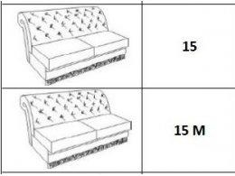 Диванная секция без механизма (ткань 2, категория 20)