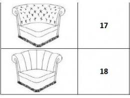 Угловой модуль (ткань 3, категория 30)