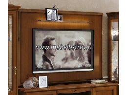 Настенная панель для TV со стеклянной полкой