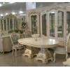 ДЖУЛЬЕТТА КОМПЛЕКТ: 4-х дв. Витрина + Комод с зеркалом + Стол 2,5 + 4 Стула+ 2 Кресла