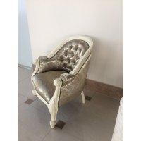 MK-CH01/1ST LOUIS TUB  (ЛУИС ТАБ) Кресло для отдыха (обивка цветы)