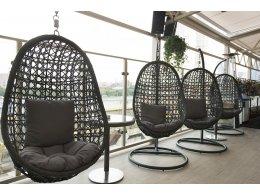 Флоренция подвесное кресло темно - коричневое