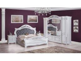 КАСАНДРА Спальня с 4-х дверным шкафом (серебро)