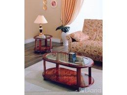 ДАНА 509C Стол журнальный овальный со стеклом