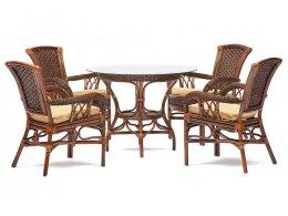 Комплект обеденный ANDREA ( стол + 4 кресла )