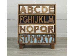 Маленький комод Alphabeto Birch (4 ящика)