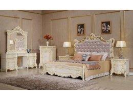 Деревянная кровать АВРОРА БЕЖ  Фабрики Китая
