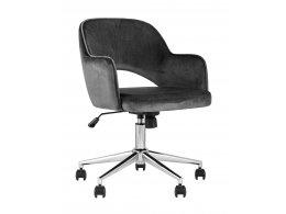 Кресло компьютерное Кларк велюр серый