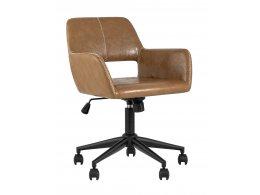 Кресло компьютерное Филиус экокожа коричневый