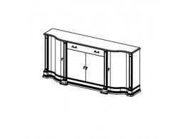 АТЛАНТА CREMA 24-С Комод центральный модуль с дверьми (закруглённый) 190