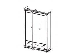 АТЛАНТА CREMA 50-С Шкаф 3-х дверный с ящиками