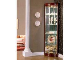 ДАНА 528 Витрина угловая стеклянная дверь (гнутая)